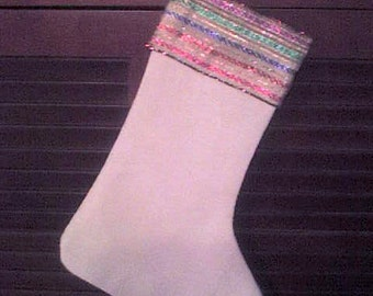 Save The Earth With Your Stocking - Christmas Stocking in Organic Hemp