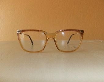 Vintage Christian Dior Gilded Eyewear Frame -- New Old Stock