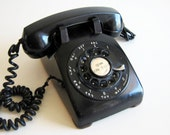 ON SALE Vintage Rotary Telephone Retro Black Rotary Phone Western Electric Photo Prop  Fathers Day Gift