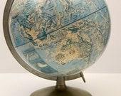 Rand McNally Globe vintage World Globe Classic Map  Photo Prop