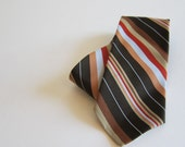 Mens Necktie Vintage Tie Tan Black Teal RED Tie Polyester Tie Gifts for Him Fathers Day