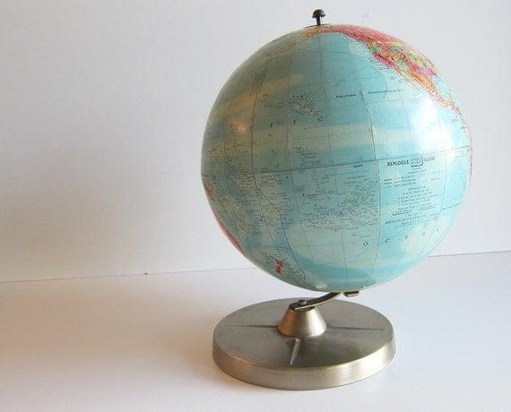 Replogle Globe vintage World Globe classic USSR  Photo Prop School Classroom