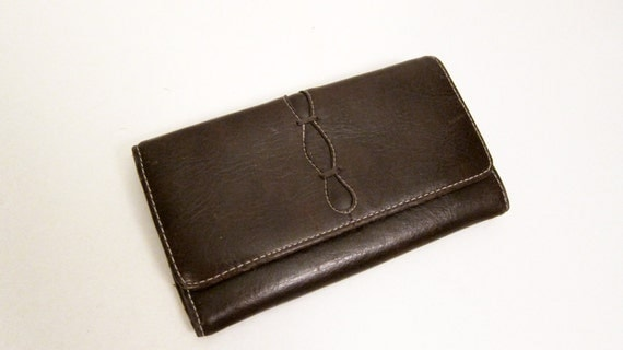 RESERVED FoR CANADIAN LIZ Leather Wallet Choclate Brown Leather Wallet
