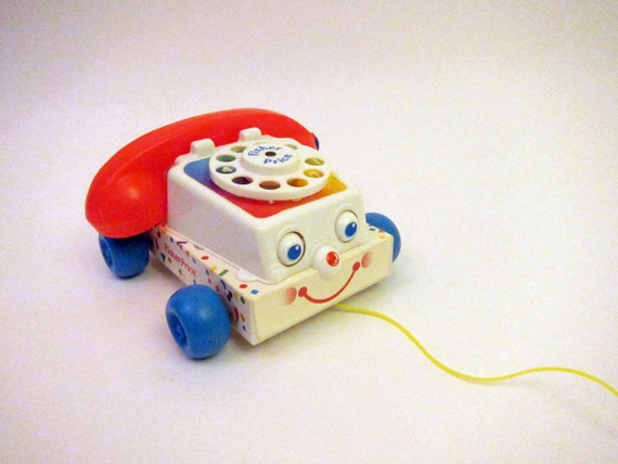 Vintage Fisher Price Chatter Telephone Rotary Dial Phone