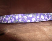 Purple Flowers  Dog Collar