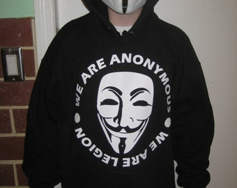 We are legion Anonymous Hoodie Hooded Sweatshirt shirt 99% OCCUPY