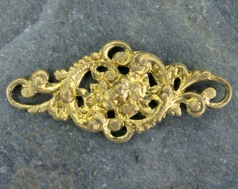Vintage Framex Rococo Floral Findings.  6 pcs.