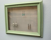 Frame Earring / Jewelry holder, Green, Distressed