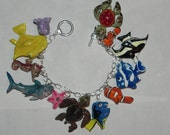 Finding Nemo Inspired Bracelet, Cast of Characters From Finding Nemo, Fish Bracelet