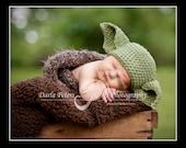 Yoda crochet Beanie Baby Hat Made to Order Treasury Item Priority shipping