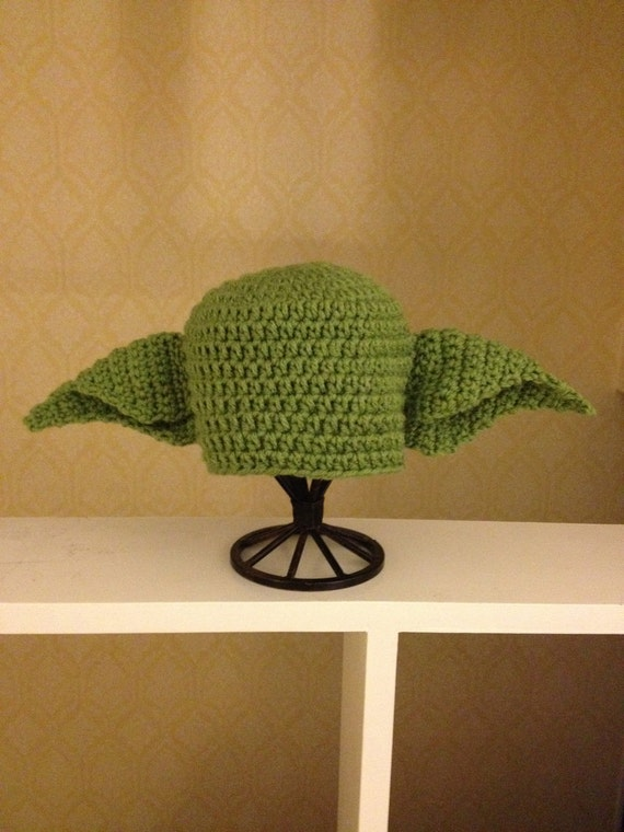 Yoda crochet Beanie Baby Hat