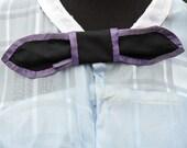Mid 19th Century Civil War Era Reproduction Silk Taffeta Lady's Neck Bow, Hand Sewn