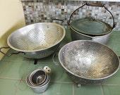 Rustic Kitchen Assortment // Colanders Measuring Cups Stew Pot
