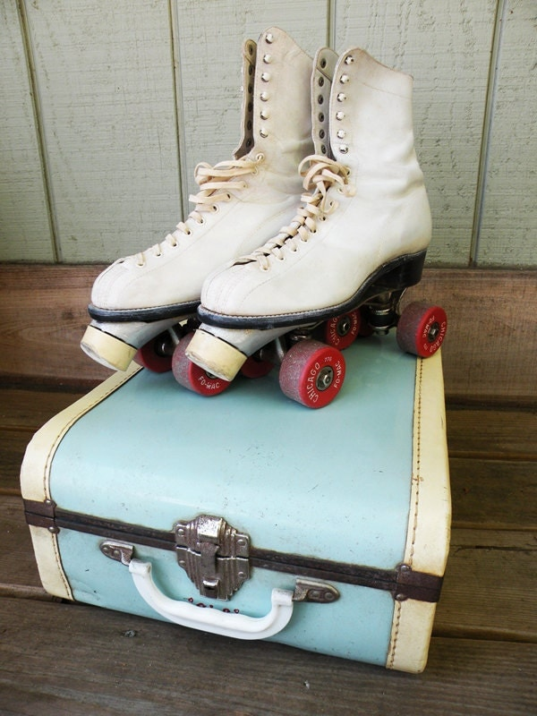 Vintage 50s Roller Skates and Carrying Case Women's size