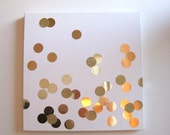 "24"" Gold Confetti Canvas Art"