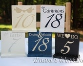 """5"""" 1-20 Customizable Wedding Table Numbers, Wooden, Wedding reception, Painted"""
