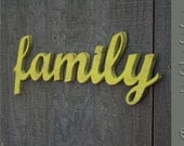 family Sign, DIY wedding decoration, Wall hanging, cottage, wooden letters, wooden sign, home decor, wood sign, Wall Decor