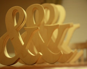 "Wooden Ampersand Photography prop, 6"" Wooden Alphabet Letters, DIY, Engagement, Wedding Decor, Photography Props, Wedding"
