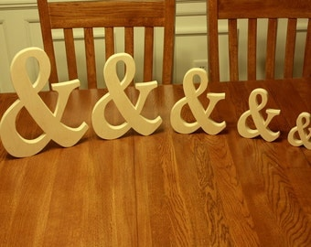 "12"" wooden Ampersand Photography prop, Wooden Alphabet Letters, DIY, Engagement, Wedding Decor, Photography Props, Wedding"