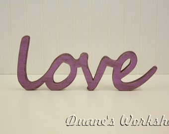love Sign, DIY Wall hanging, shabby chic, wooden letters, wooden sign, home decor, wood sign, Housewares, Wall Decor