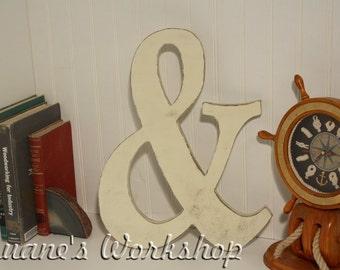 "Ampersand,16"" Ampersand, Painted, Custom, Woooden Alphabet, DIY, Engagement, Wedding Decor, Photography Props,"