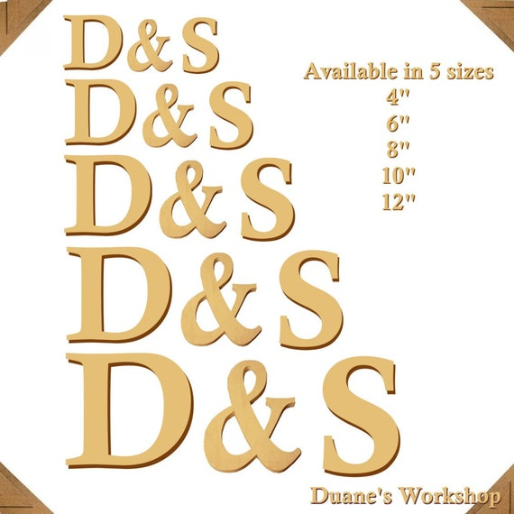 """12"""" Wooden Letters and Ampersand Photography prop, DIY, Engagement, Alphabet, Wedding Decor, Photography Props, Wedding,"""