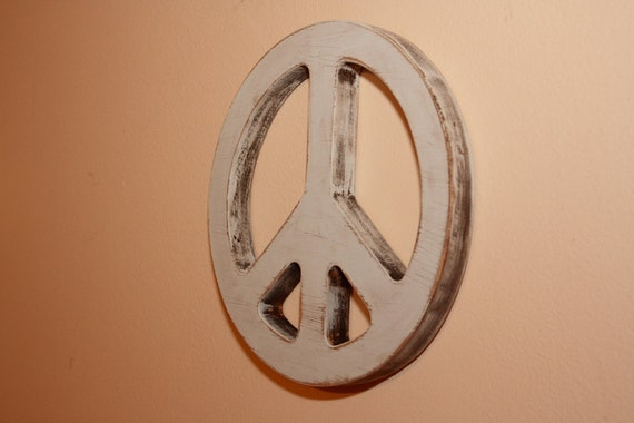 "8"" wooden peace sign, peace emblem, peace symbol, Photography prop, Wooden sign, home decor, wall hanging"