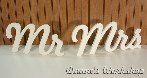 "8"" Wooden Mr and Mrs Photography prop Wooden Alphabet Letters DIY Engagement Wedding Decor Wedding Mr & Mrs"