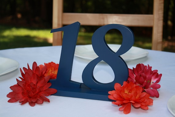 """6"""" Customizable Wedding Table Numbers 1-20, Wooden, Wedding reception, Painted"""