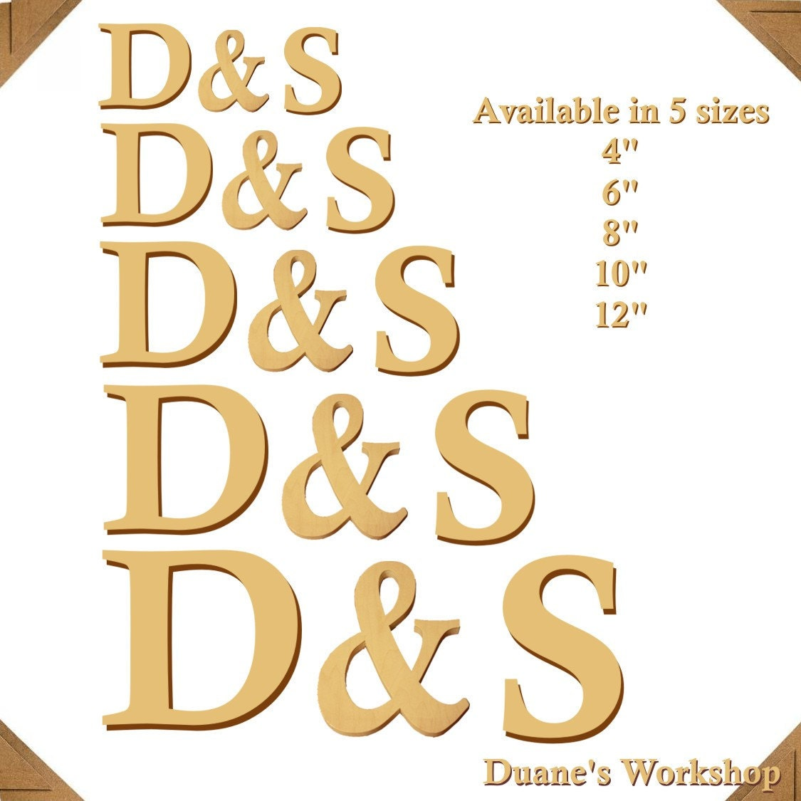 12 Wooden Letters And Ampersand Photography Prop DIY