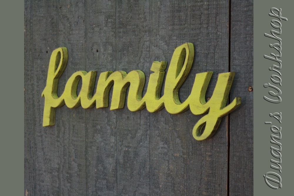 Family sign diy wedding decoration wall hanging cottage for Sign decoration