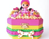 """Reserved listing for Visanee, Lalaloopsy jewelry box, discontinued doll """"sprouts sunshine""""(easter edition)"""