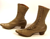 SALE Antique Victorian Granny Button Boots 8.5 / 9
