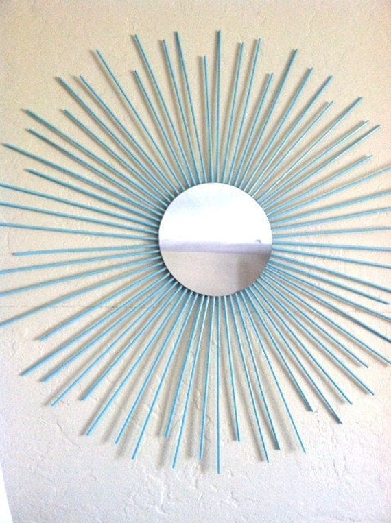 Sunburst Wall Mirror Art Contemporary Modern Decor By