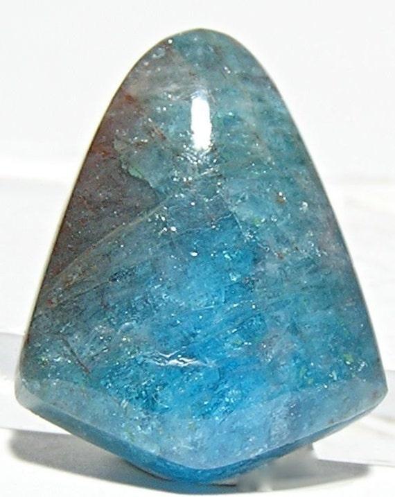 Blue Apatite Cabochon Bright Sky Blue 23.5 carats
