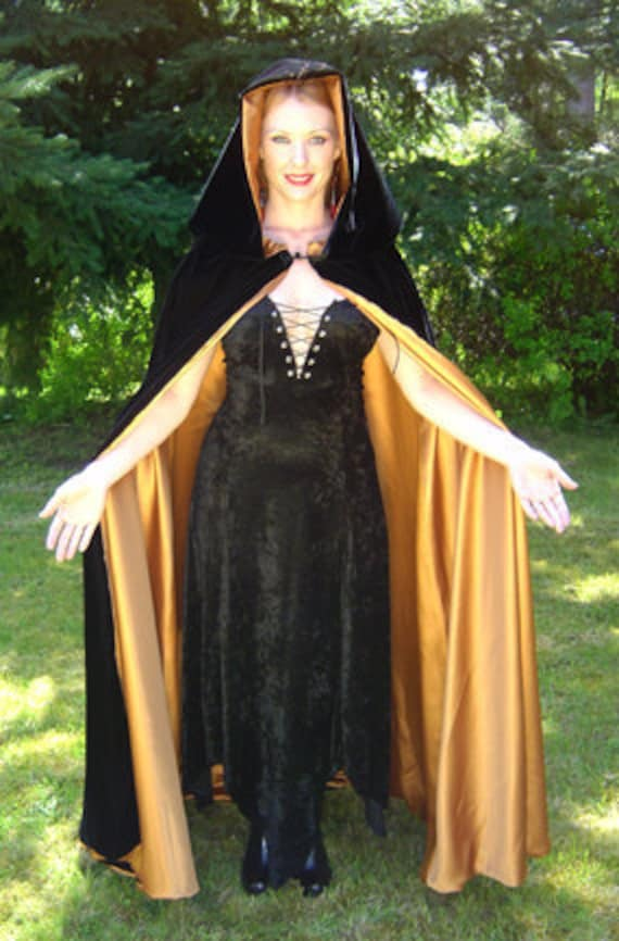the Cloakary on Etsy moon witch cape