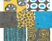 Custom 2 piece Baby Bedding Crib Set (Turquoise Gray and Yellow)