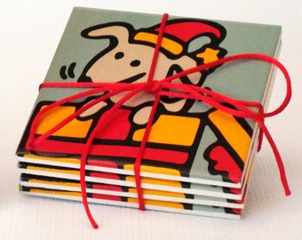 Christmas Dog Coasters - 50% Off Ceramic Coaster Sale