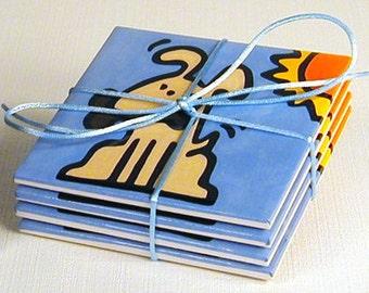 Dog Ceramic Coasters - 50% Off Ceramic Coaster Sale