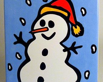 Snowman - Christmas Ceramic Trivet/Hot Plate 50% Off Ceramic Trivet Sale