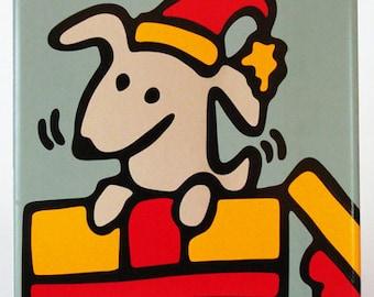 Christmas Dog Trivet - 50% Off Ceramic Trivet Sale