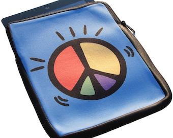 Peace iPad 1, 2 and 3 Neoprene Zippered Case - 50% off iPad Case Sale