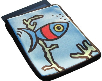 Fish iPad 1, 2 and 3 Neoprene Zippered Case - 50% Off iPad Case Sale