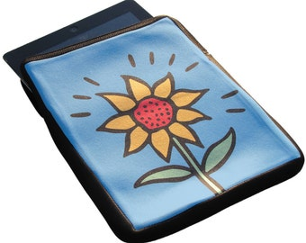 Sunflower iPad 1, 2 and 3 Neoprene Zippered Case - 50% Off iPad Case Sale