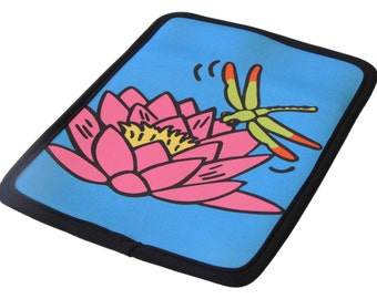 "Waterlily and Dragonfly Kindle Case Neoprene/ fits 6""-7"" e-readers & tablets - 50% Off Kindle Case Sale"