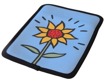 "Sunflower Kindle Case Neoprene/ fits 6""-7"" e-readers & tablets - 50% Off Kindle Case Sale"