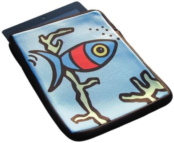 Fish iPad 1, 2 and 3 Neoprene Zippered Case - 50% Off iPad Case Sale