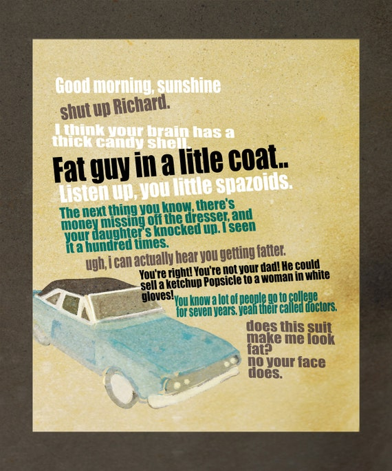 Chris Farley Tommy Boy Quotes: Items Similar To Tommy Boy Movie Quote Poster Digital File