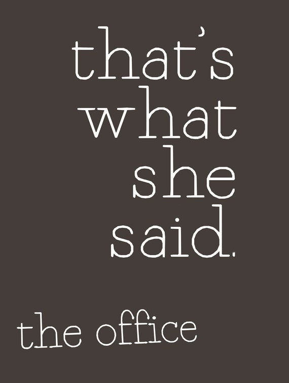 items similar to funny office the tv show quote poster