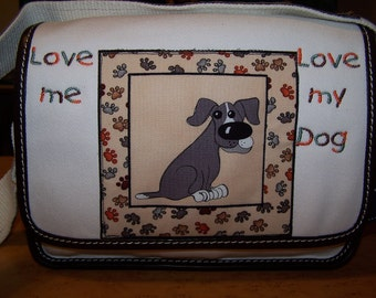 Land's End Ketch Purse with Loralie Fabric, Embroidery & Ribbon